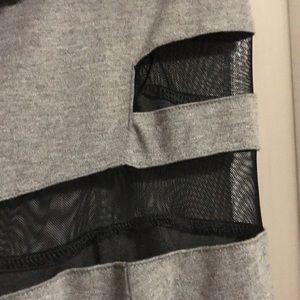 H&M Dresses - H&M gray with black mesh panels dress